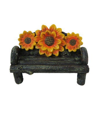 Fall Into Color Littles Resin Sunflower Bench