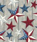 Susan Winget Premium Quilt Patriotic Cotton Fabric 43\u0027\u0027-Texas Stars