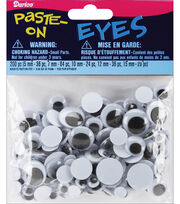 Paste-On Wiggle Eyes Assorted 5mm To 15mm 200 Pack-Black, , hi-res