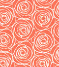 Quilter\u0027s Showcase™ Cotton Fabric 44\u0022-Floral Outline Coral