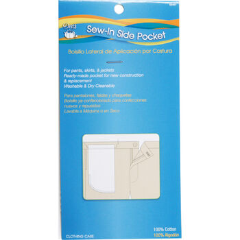 Sew-In Side Pocket 100% Cotton 1/Pkg