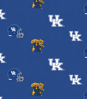 "University of Kentucky Wildcats Cotton Fabric 44""-Herringbone All Over, , hi-res"