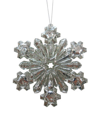 Maker's Holiday Christmas Arctic Frost Crystal Snowflake Ornament