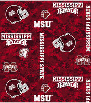 "Mississippi State University Bulldogs Fleece Fabric 60""-Digital Camo, , hi-res"
