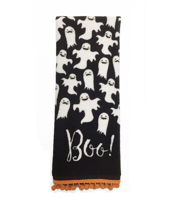 "Maker's Halloween Velour & Terry Hand Towel 16""x28""-Boo & Ghosts"