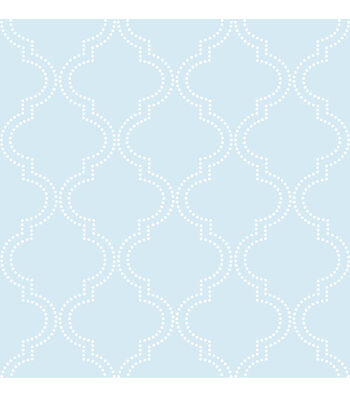WallPops®NuWallpaper™ Blue Quatrefoil Peel And Stick Wallpaper
