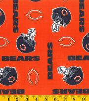 """Chicago Bears Cotton Fabric 58""""-Orange, , hi-res"""