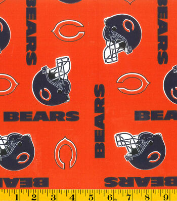 "Chicago Bears Cotton Fabric 58""-Orange"