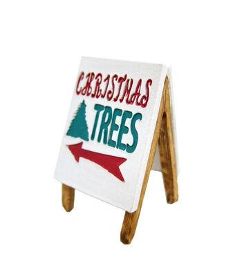 Maker's Holiday Christmas Littles Resin Lot Sign-Christmas Trees