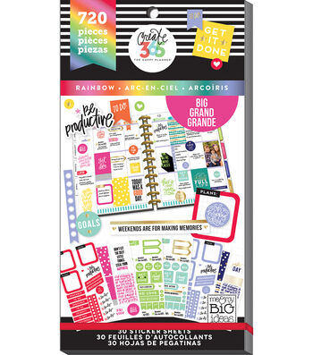 Create 365 Happy Planner Sticker Value Pack-Big ROYGBIV