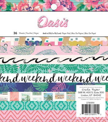 """Crate Paper Single-Sided Paper Pad 6""""X6""""-Oasis"""