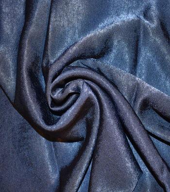 """Silky Sanded Satin Fabric 58""""-Navy"""