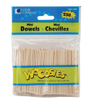 "Woodsies 250pk Mini Dowels 5/64""x2-5/8"", , hi-res"