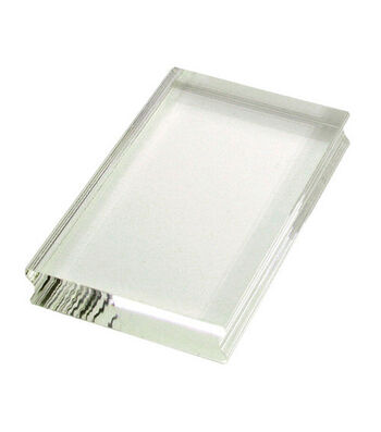 """Perfectly Clear 2-1/4""""x3-1/2"""" Stamp Block-Small Rectangle"""