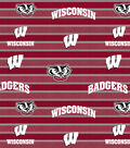 University of Wisconsin Badgers Fleece Fabric 58\u0022-Polo Stripe