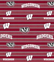 "University of Wisconsin Badgers Fleece Fabric 58""-Polo Stripe, , hi-res"