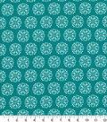Quilters Showcase Cotton Fabric-Medallion Turq