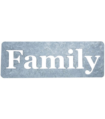 Fab Lab Galvanized Metal Stencil-Family