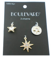 hildie & jo™ Boulevard 3 Pack Star Gold & Silver Charms-Crystals, , hi-res