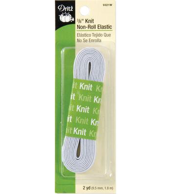 Dritz® Knit Non-Roll Elastic 0.38''x2 yds.-White