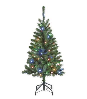 Maker's Holiday Christmas 4' PVC Tree with Lights-Green