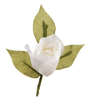 David Tutera™ 3 Pack 5.5'' Flower Boutonnieres-White