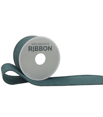 "Decorative Ribbon 1.5"" Solid Burlap Ribbon-Teal"