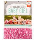 DCWV 8-1/2\u0022x11\u0022 DIY Project Stack: Baby Girl