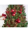 Blooming Holiday Expandable Mesh Ribbon 6\u0027\u0027x30\u0027-Red