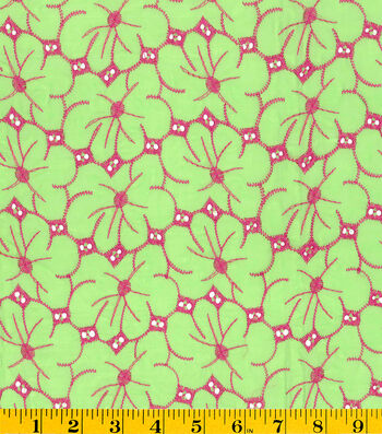 "Summerville Eyelet Fabric 57""-Floral"