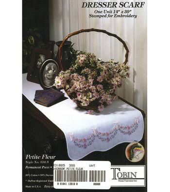 Stamped Dresser Scarf-Petit Fleur