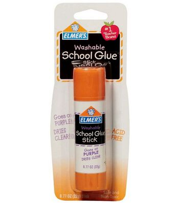 Elmers Washable School Glue Purple Glue Stick