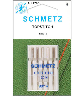 Schmetz Topstitch Machine Needles 5/Pk-Size 14/90