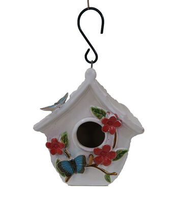 Wild Blooms Ceramic Birdhouse-Floral