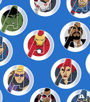 Marvel Comics™ Avengers Cotton Fabric 43''-United Badge, , hi-res