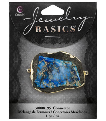 Cousin® Jewelry Basics Stone Connector-Bright Blue