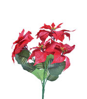 Blooming Holiday Christmas 21'' Poinsettia Spray-Red, , hi-res