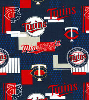 Minnesota Twins Cotton Fabric 58''-Patch, , hi-res