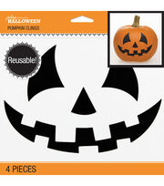Jolee's Boutique® Halloween 4 pk Pumpkin Clings-Jack-O-Lantern Face, , hi-res