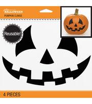 Jolee's Boutique® Halloween 4 pk Pumpkin Clings-Jack-O-Lantern Face, , hi-res