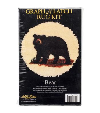 MCG Textiles Latch Hook Kit 17''-Bear