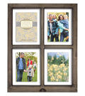 Windowpane Collage Wall Frame 5X7-Brown Gray