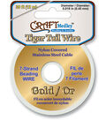 Tiger Tail Beading Wire 7-Strand .45mm 39ft/Pk-Gold