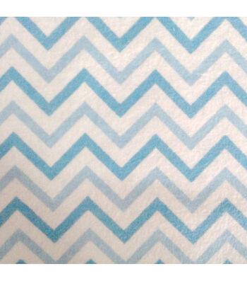 "3 Yard Pre-Cut Snuggle Flannel Fabric 42""-Chevron Blue"