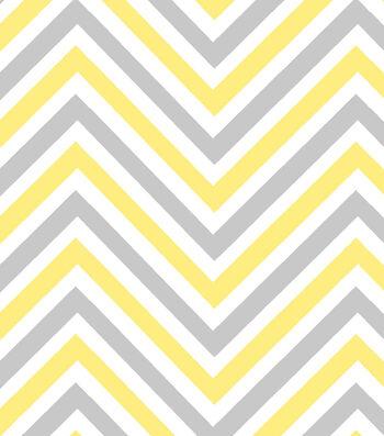 Nursery Cotton Fabric 42''-Bumble Bee Chevron
