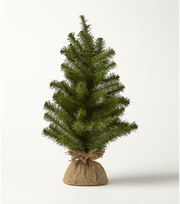 Blooming Holiday Christmas PVC Norway Spruce Pine & Burlap Tree-Green, , hi-res