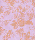 Buttercream™ Cosette Collection Cotton Fabric-Gold Met Floral Purple