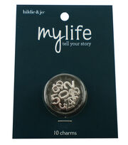 hildie & jo™ My Life 10 Pack Mini Numbers Silver Locket Charms, , hi-res
