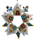 Gingerbread Wreath Felt Applique Kit 17\u0022 Round