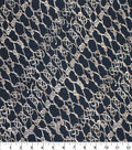 Nicole Miller Rayon Spandex Fabric-Rope Black